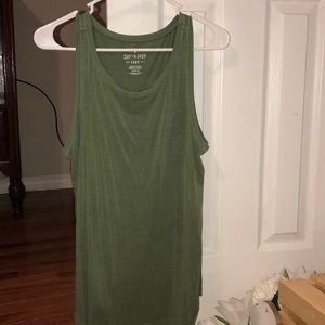 Green tank top by American Eagle
